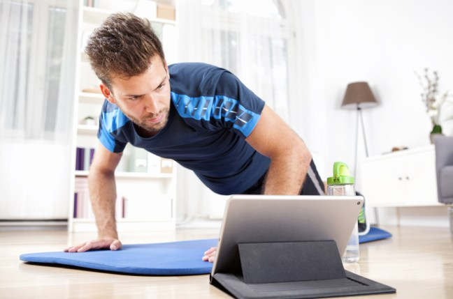Online fitness training using Laptop