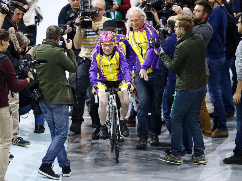 105 year cyclist world record holder
