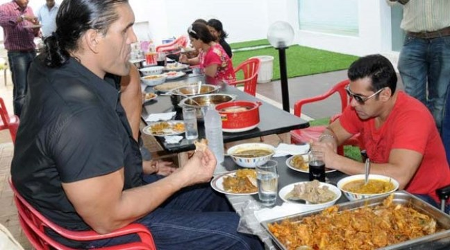 salman khan diet with khali