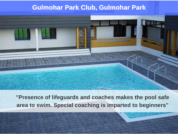 gulmohar park swimming pool : best swimming pool in delhi