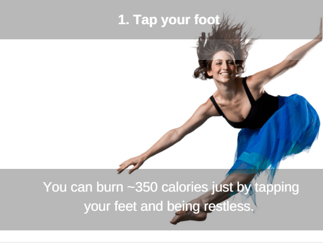 tap your foot to cut calories