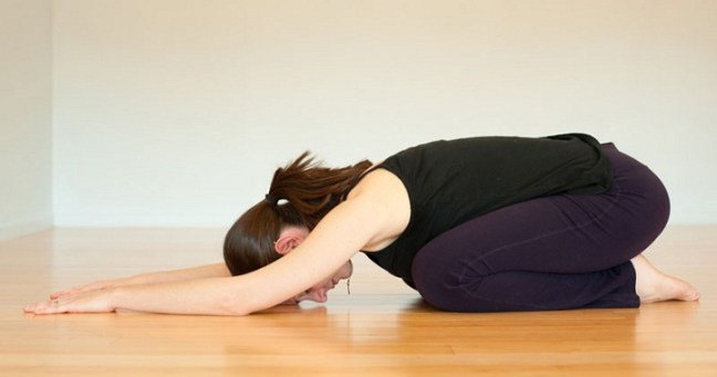 Shishuasana yoga for low bp