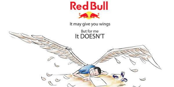red bull drink gives wing