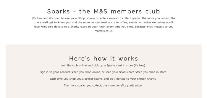 customer loyalty program marks and spencers