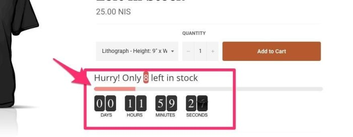 countdown timer to increase conversions