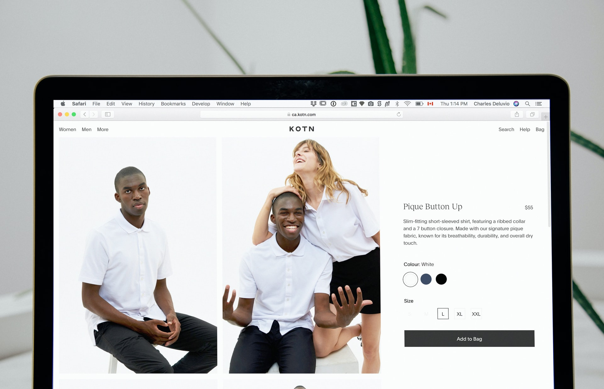 customer account page examples fashion and apparel stores