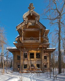 Russian Abandoned Wooden Houses