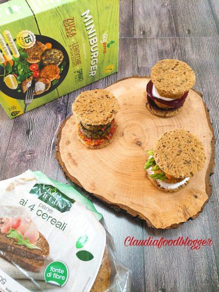 Sandwich ai 4 cereali con miniburger
