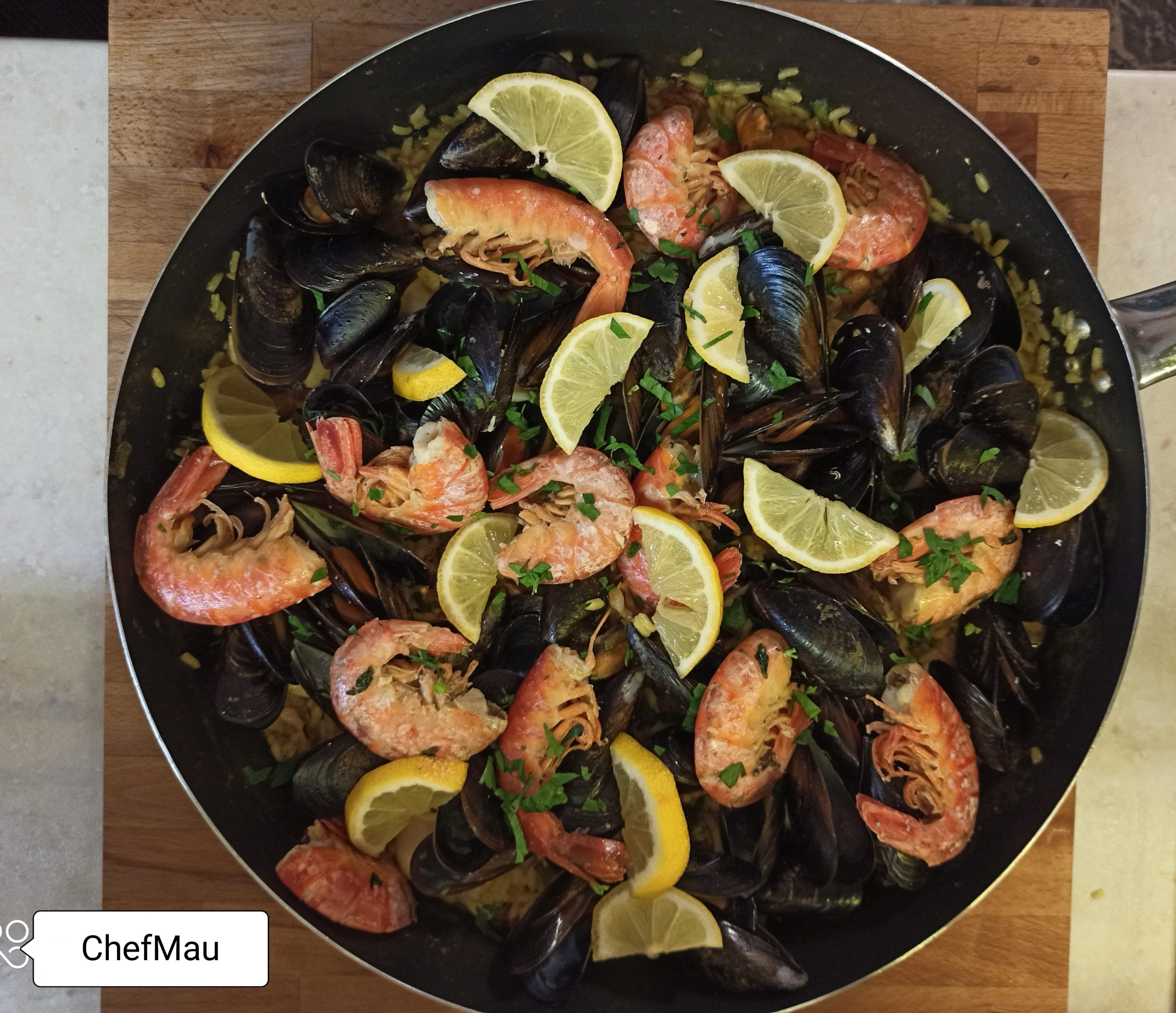 Paella de marisco ricetta spagnola