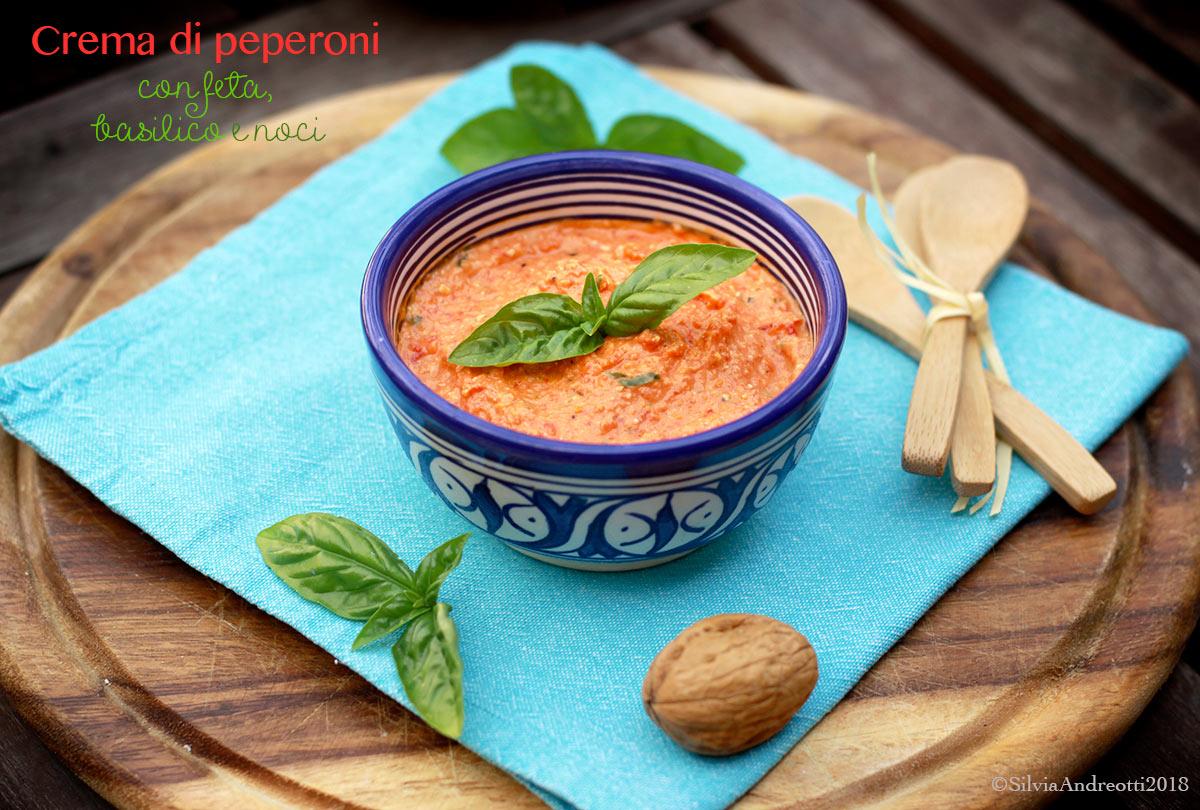 Crema di peperoni con feta basilico e noci la mia ricetta per Peper  Sano con gusto  cucina