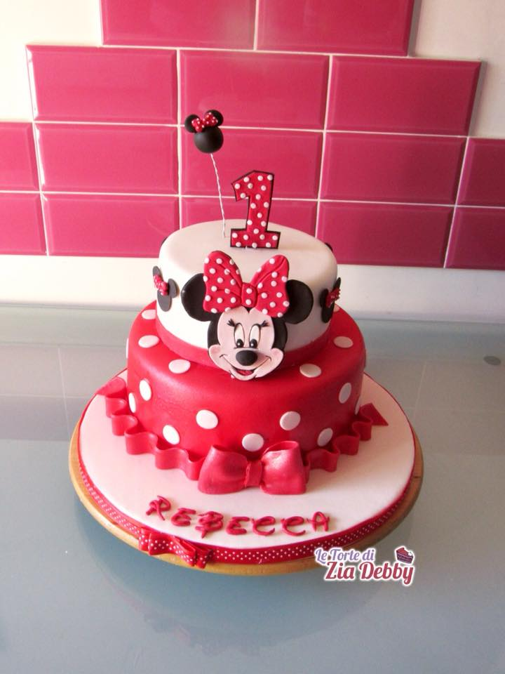 Torta di compleanno con Minnie  Zia Debby