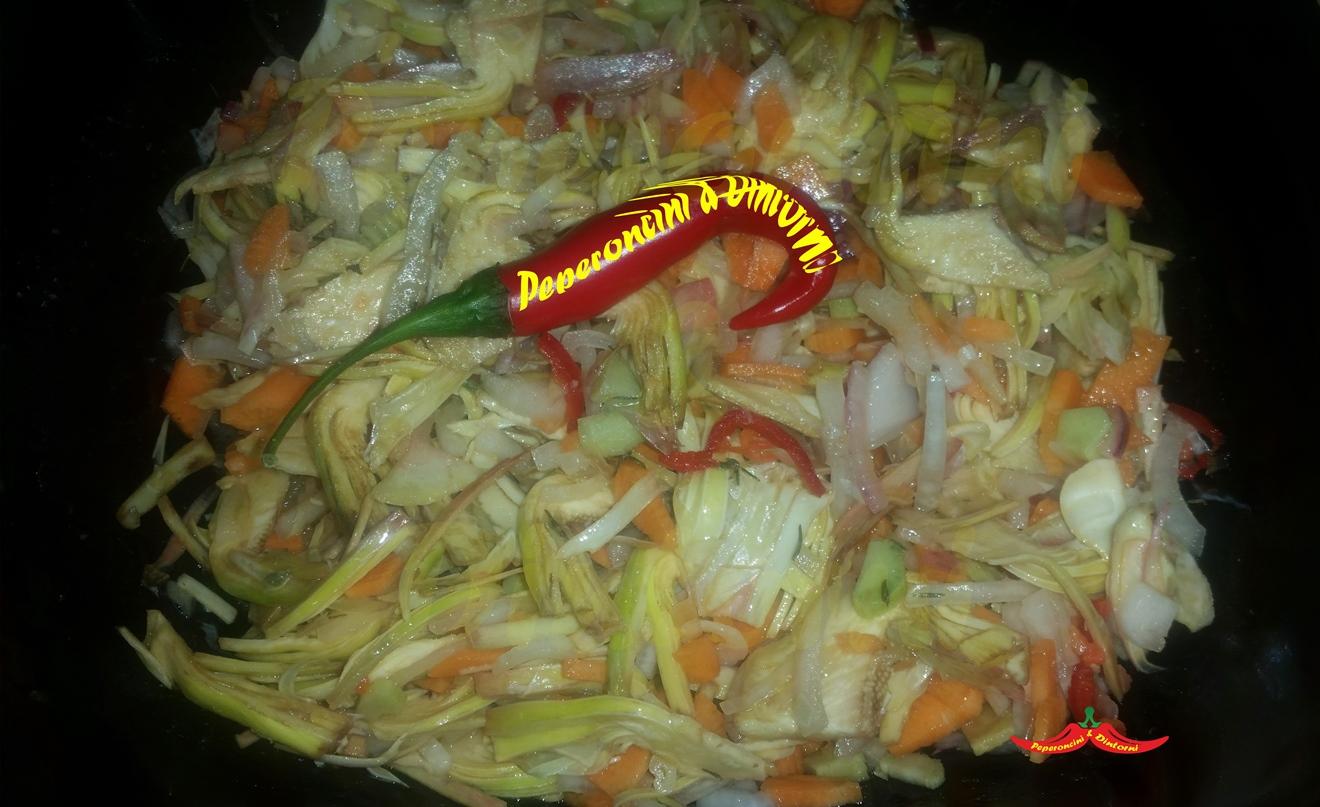 Insalata di Carciofi, Cipolle e peperoncino di Cayenna