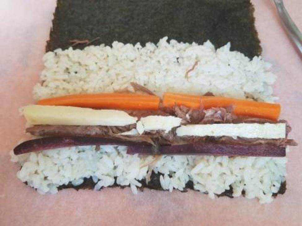 Preparazione Futomaki, Tonno di Firenze, Gran Mugello e carote