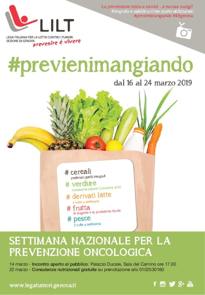 #Previenimangiando: la cultura del cibo nella prevenzione oncologica