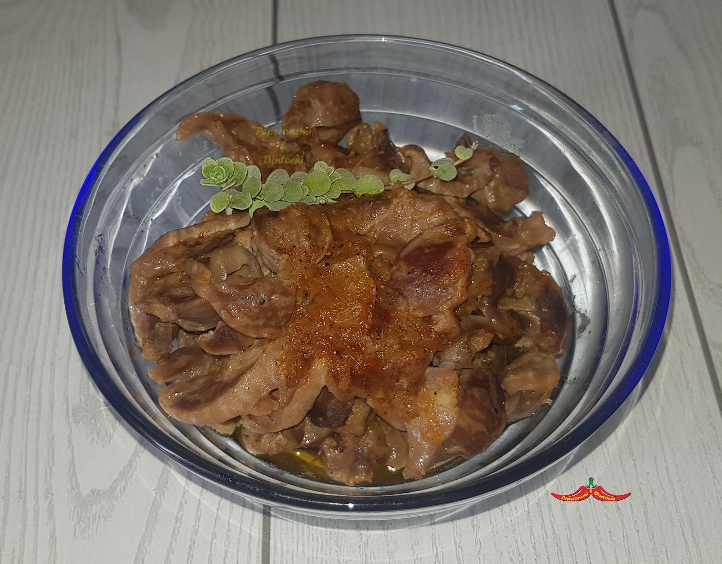 Ventrigli o Durelli di pollo scalogno e maggiorana