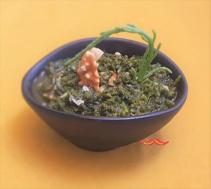 Pesto di salicornia e noci