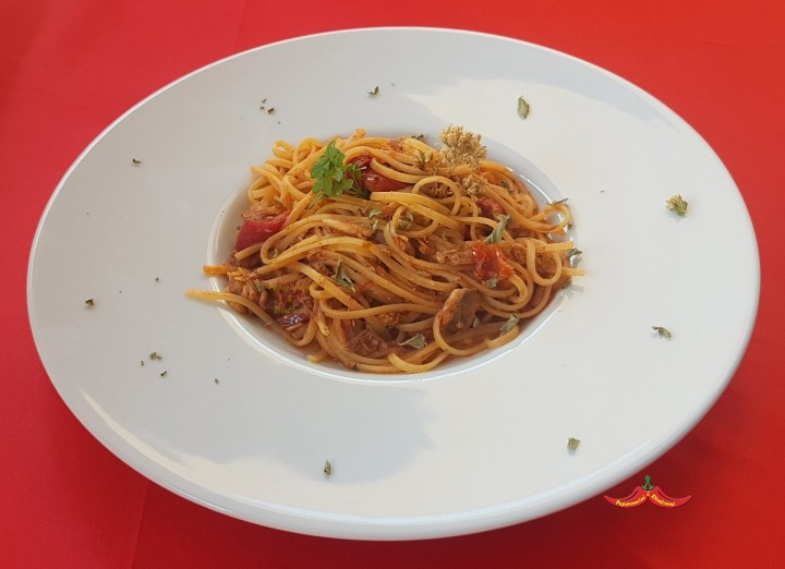 Linguine con le Alici Arraganate