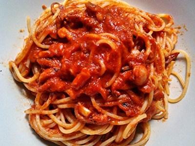 Spaghetti al sugo di polipetti