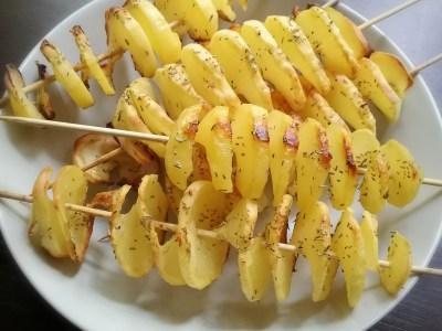 Spirali di patate al forno