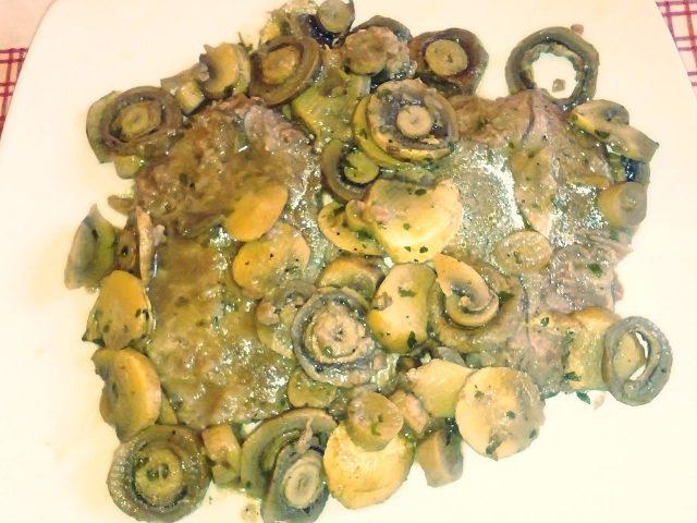 Scaloppine ai funghi al microonde
