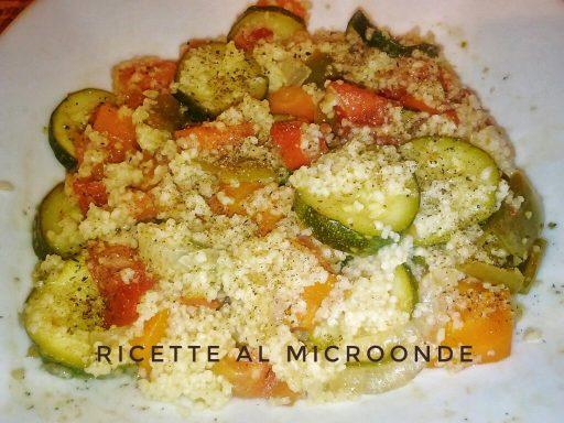Cous cous di verdure al microonde