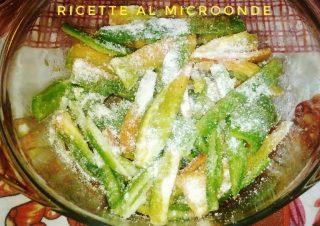 Condimento per peperoni con pangrattato al microonde