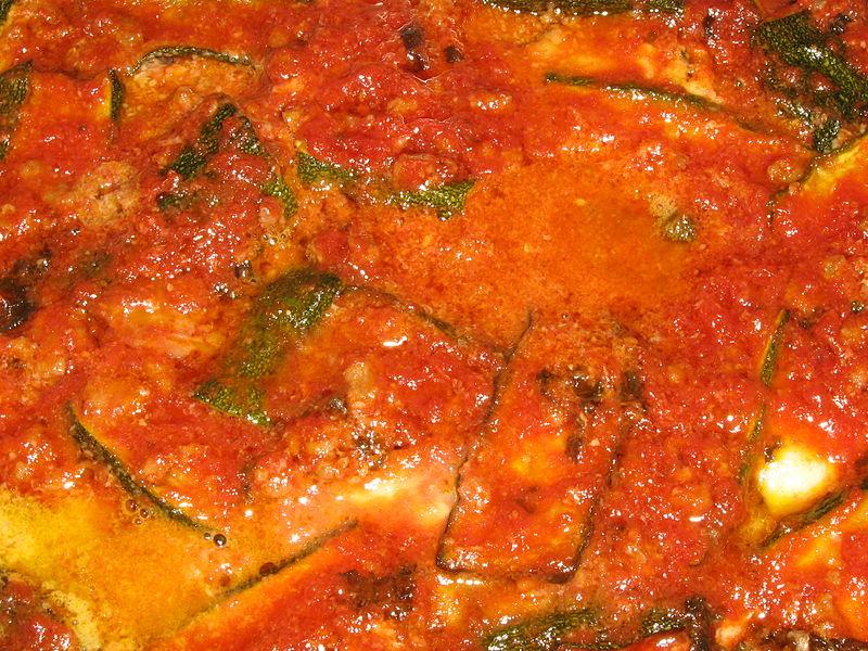 Parmigiana di zucchine al microonde