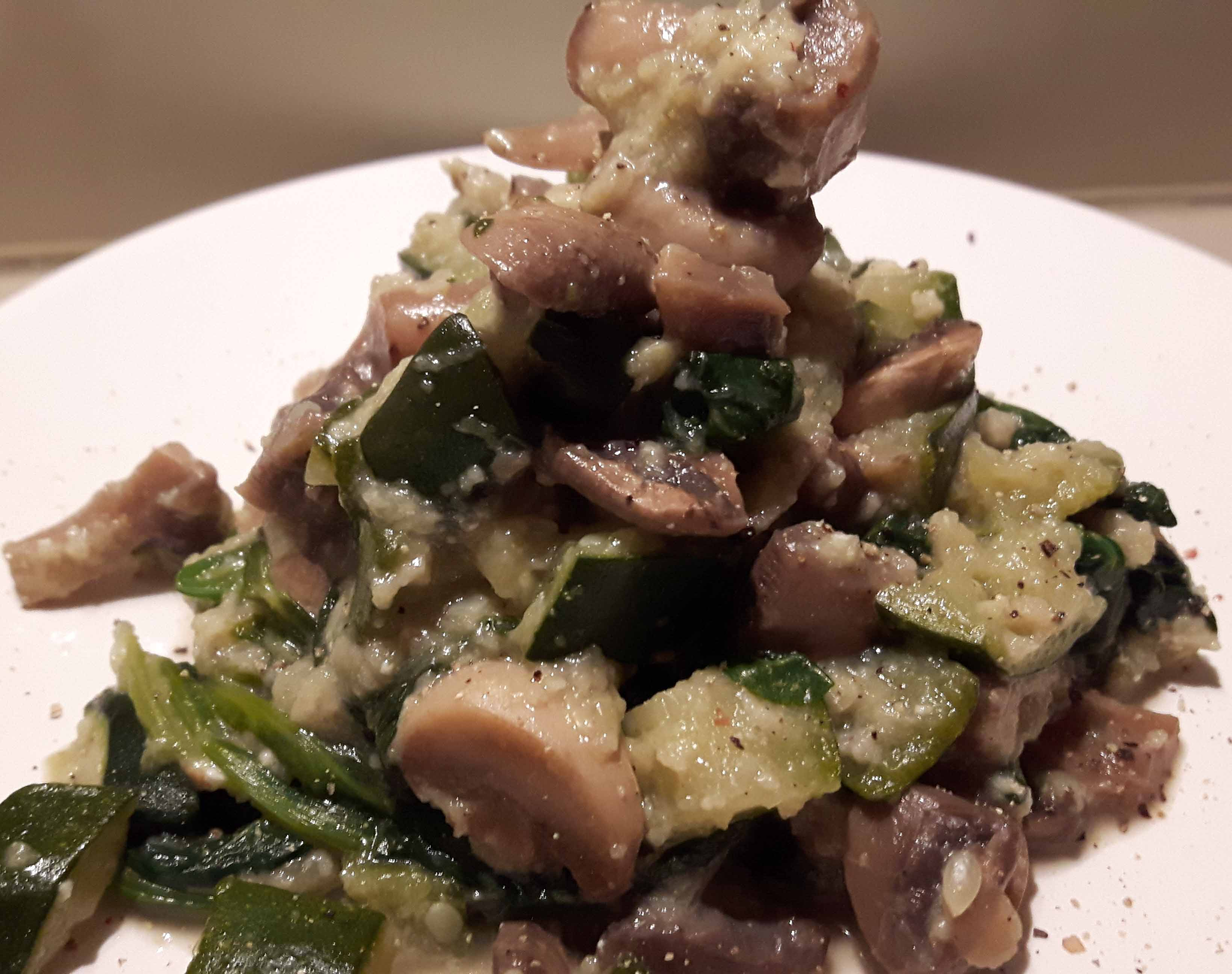 Funghi, zucchine e spinaci con caprinoOriginally Posted on 3 November 2016 and reposted on 5 July 2019