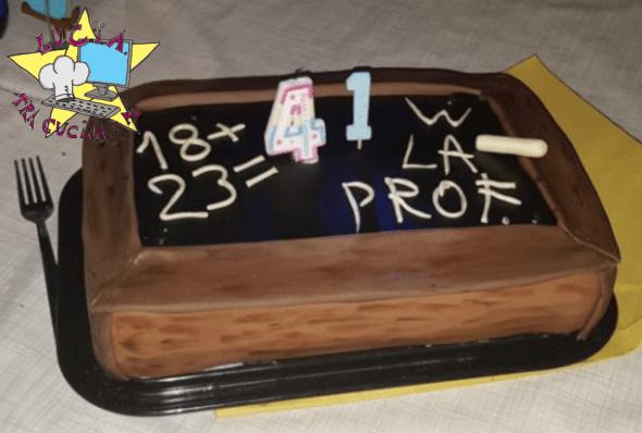 Cake lavagna