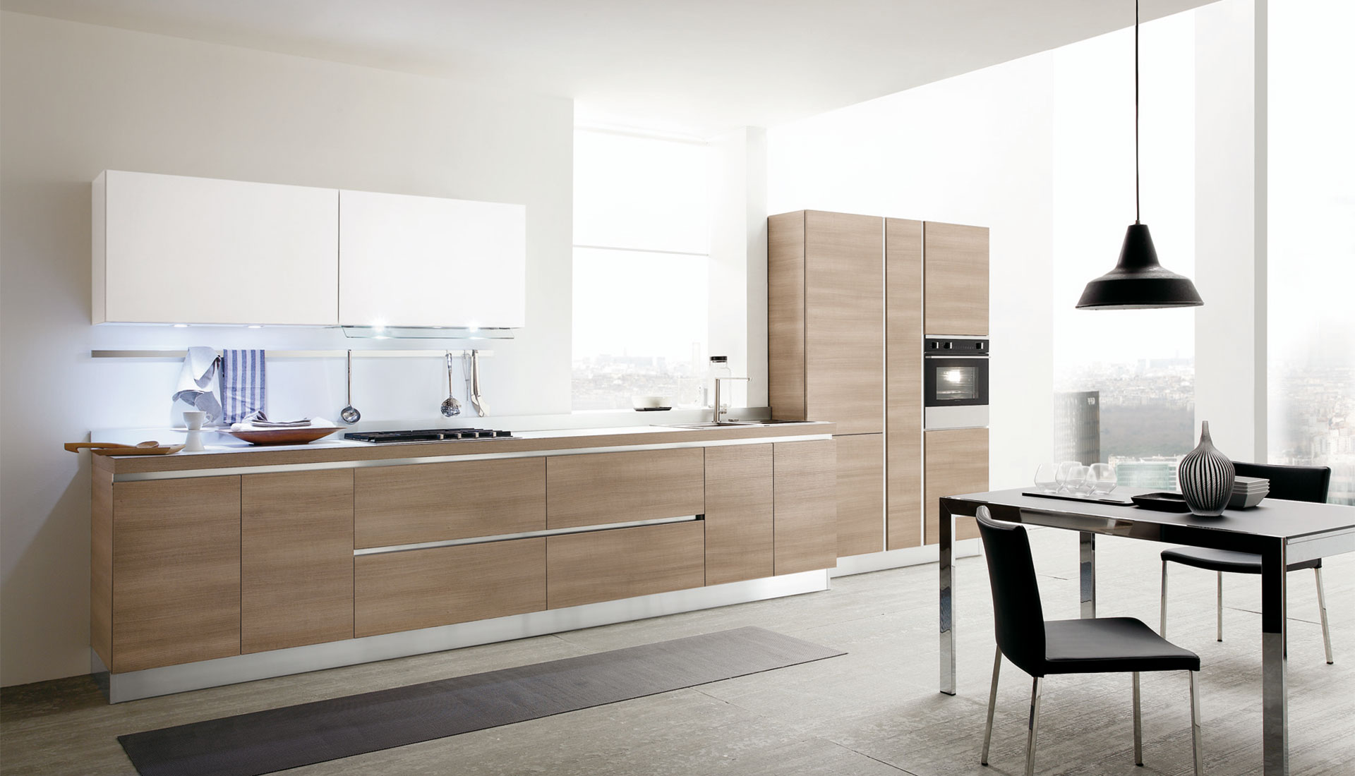 The modern kitchen model Joy by Gicinque is enriched by