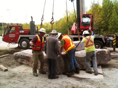 Granite base installation