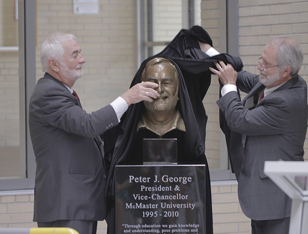 Peter George Sculpture Unveiling