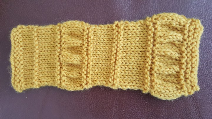 Garter stripe with ruching