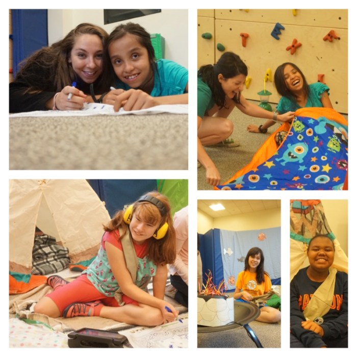 Camp out Girl Scouts photo grid 2
