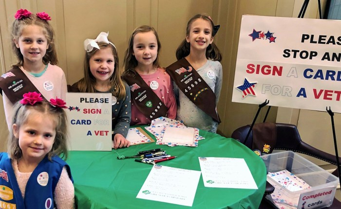 Girl Scouts Honoring Veterans
