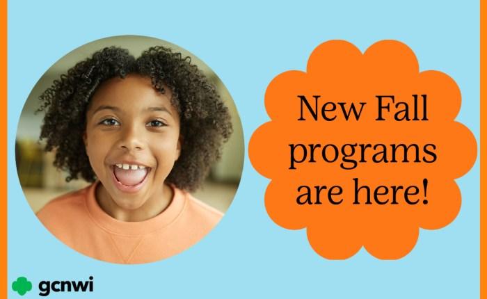 Press Play on Fall Programs!