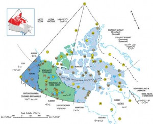 Map from Canada's Northern Strategy: Our North, Our Heritage, Our Future