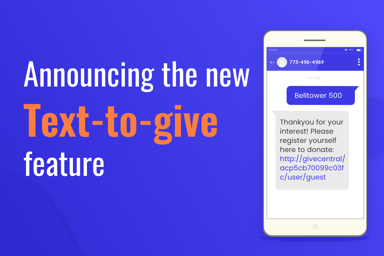 Double your donations with GiveCentral's text-to-give.