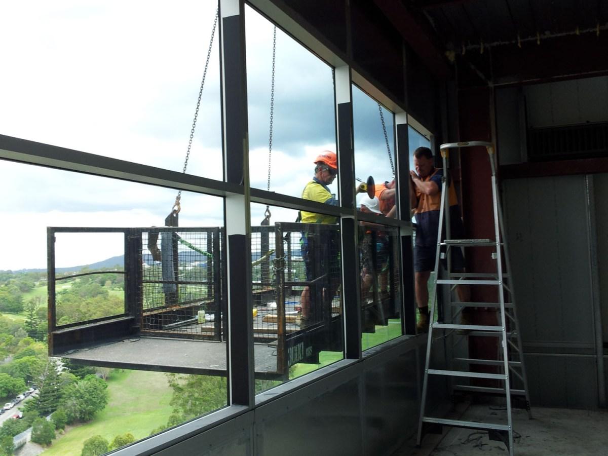 QIMR Curtain Wall Reglaze