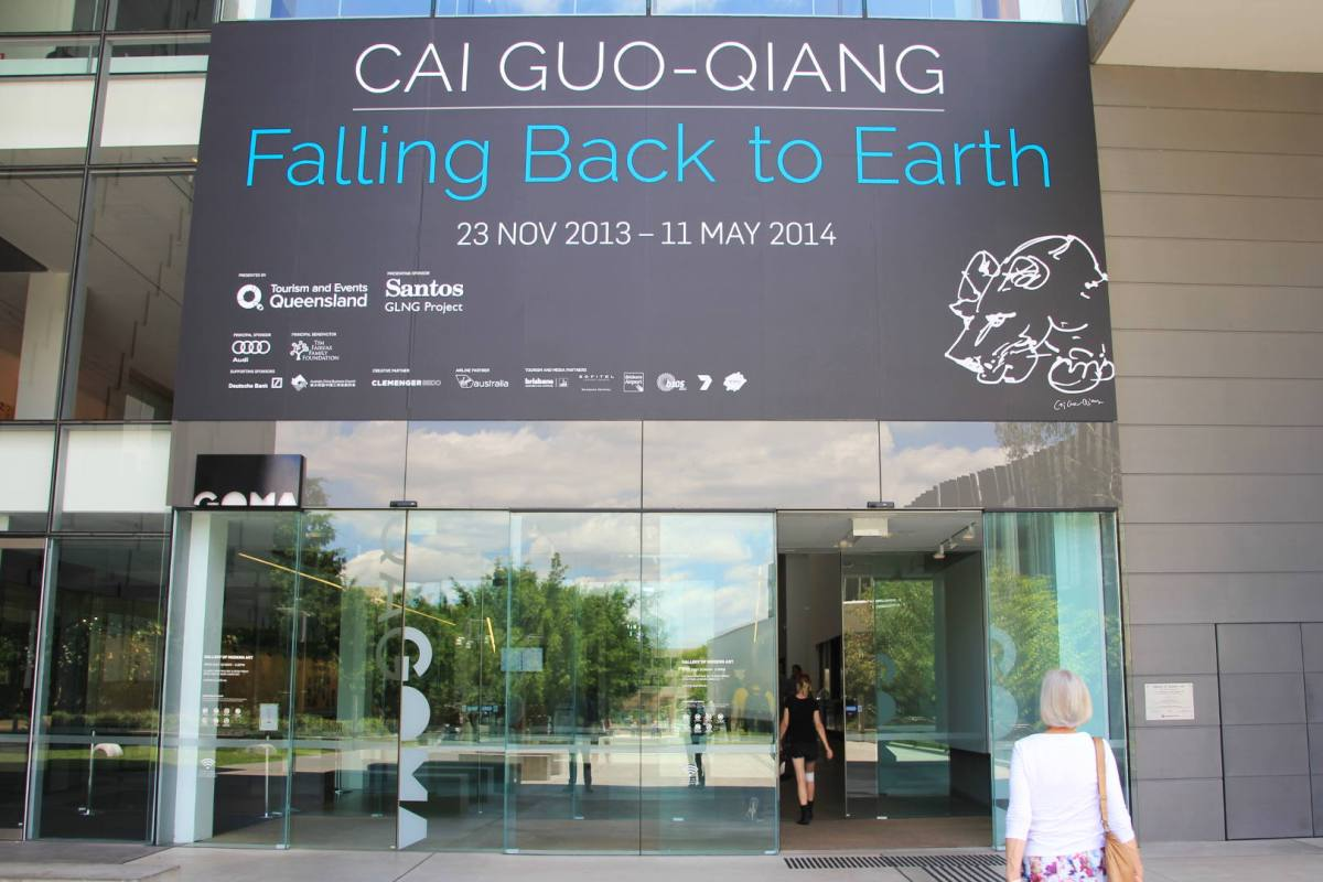 Cai Cuo-Qiang's Head On exhibition