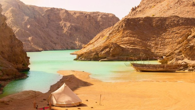 glamping tent in oman with canvas club