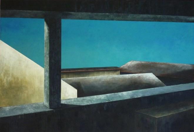 Johanna Jakowlev, Versatzstücke, 2015, Acryl auf Leinwand, 110 x 160 cm