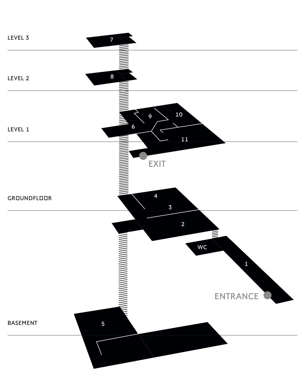 Floorplan der The Dark Rooms Ausstellung in der Willner Brauerei Berlin