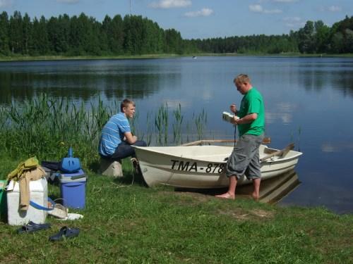 Photo: GLEON research in Estonia.