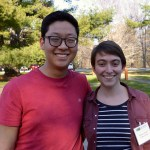 Photo: Brian Kim and Rebecca Chmiel (Colby College) at NE GLEON 2016. Credit: L. Borre.