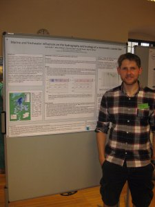 Seán Kelly presenting his poster at G18. (Photo Credit: Elvira de Eyto)