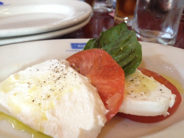 Mozzerella tomato and fresh basil