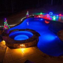 Natal na piscina