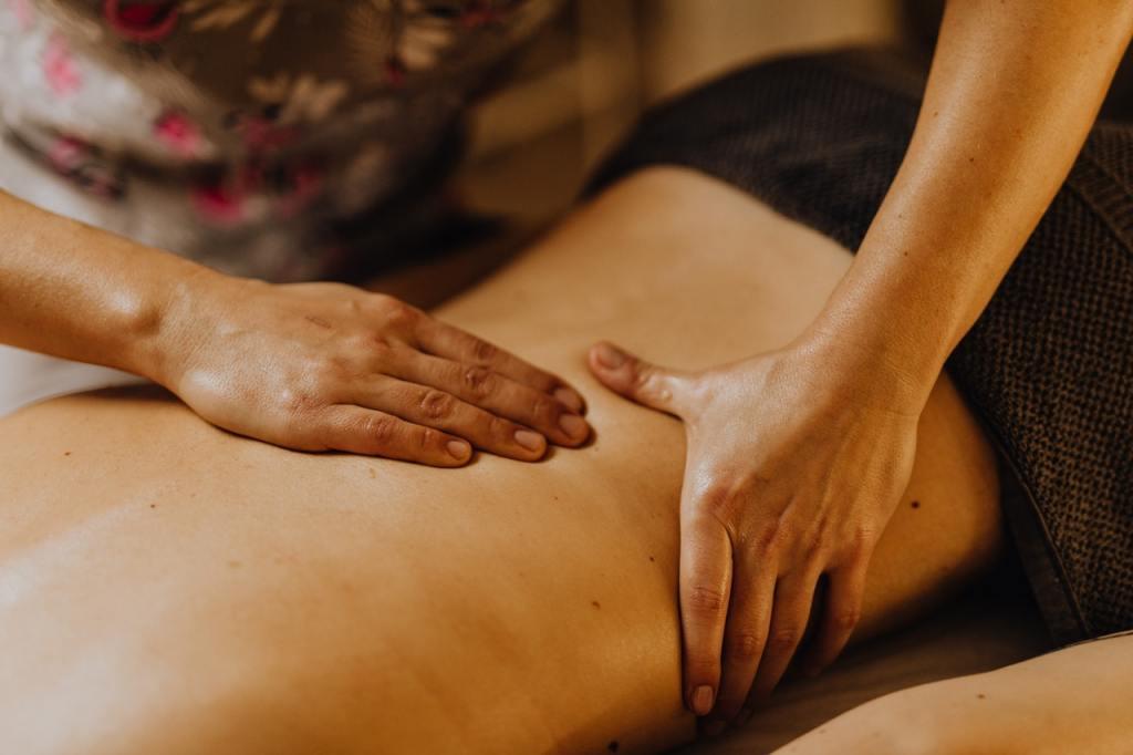 Un massaggio rilassante