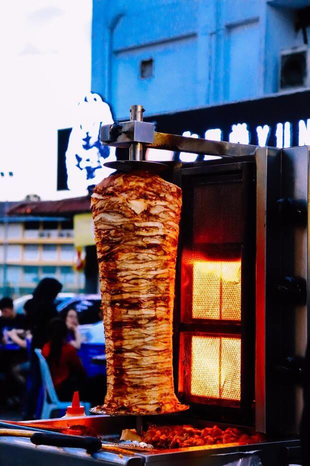 La carne de kebab a domicilio en Valencia